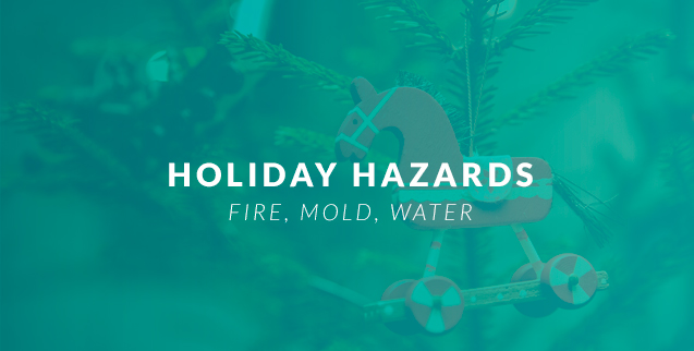 Mold, Water, and Fire Holiday Hazards