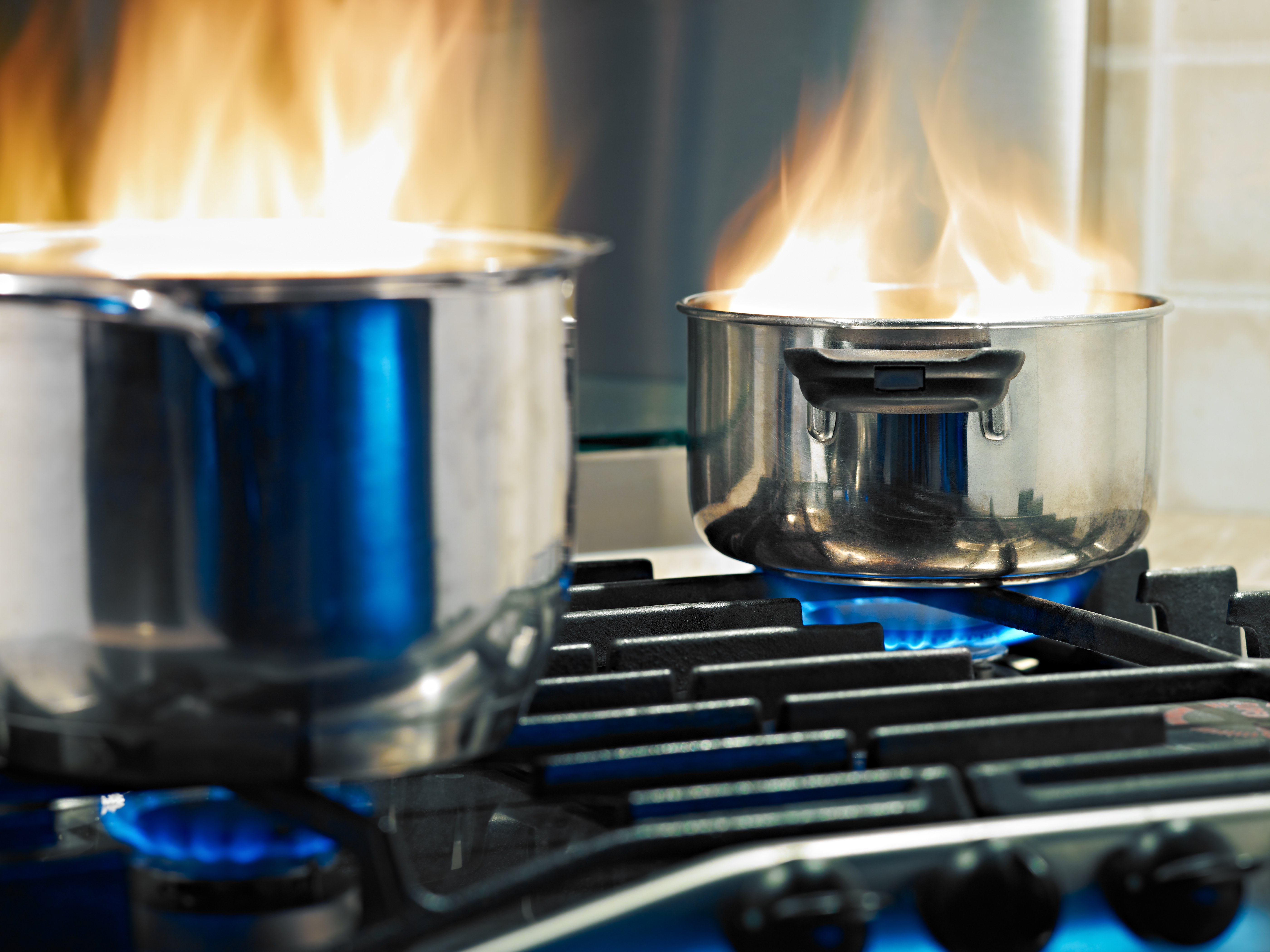 pots on stove fire hazard
