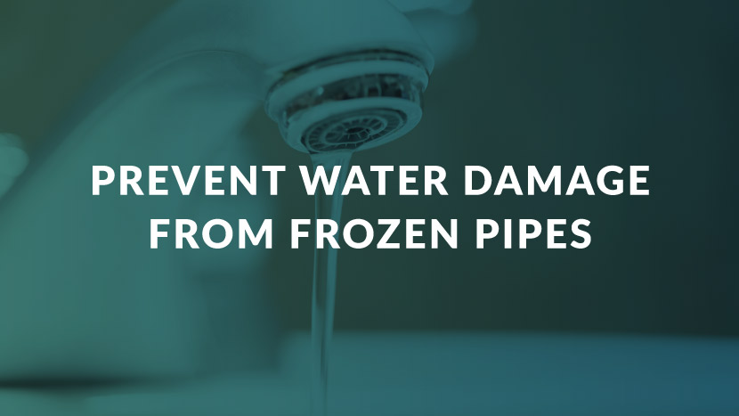 Prevent Water Damage From Frozen Pipes